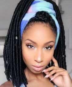 17 Best Weave Hairstyles Braided Crochet To Bring Out Your Charm # crochet Braid. # twist Braids locks 17 Best Weave Hairstyles Braided Crochet To Bring Out Your Charm # crochet Braid. Box Braids Hairstyles, Black Hairstyles, Girl Hairstyles, Dreadlock Hairstyles, Curly Faux Locs, Faux Locs Styles, Scarf Styles, Curly Hair Styles, Natural Hair Styles