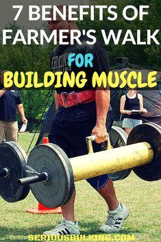 The 7 benefits of farmer's walk for building muscle. Learn how to build muscle fast with this amazing exercise! Fitness Workouts, Fun Workouts, Body Workouts, Chest Workouts, Fit Board Workouts, Workout Board, Muscle Training, Weight Training, Strength Training