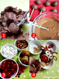 Rudolph Holiday Party: Cute Food Ideas for Kids   FREEBIES! by Bird's Party