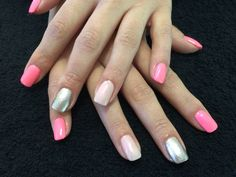 CHINAGLAZE Lip Smacking Good with Eat Pink be Merry and OPI Designer De Better Accent Nails