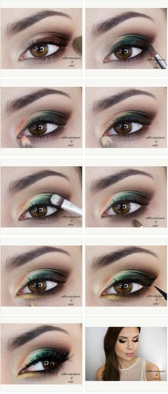 Possible St Patrick's day eye makeup. [Site's in Polish]