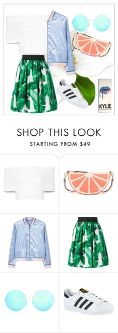 """""""SUMMER IN MY EYES"""" by hanamodel on Polyvore featuring Rosetta Getty, Kate Spade, MANGO, Dolce&Gabbana, Victoria Beckham and adidas"""