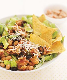 TACO SALAD Really easy and tasty. I did half turkey, half beef (I brown several pounds at once, and then freeze in meal size bags.... then when making this, I thaw the ready-cooked ground meat, and this takes about 10 minutes.