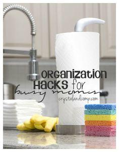 25 organization hacks for busy moms