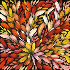 'Bush Medicine Leaves' by Louise Numina Napanangka Aboriginal Painting, Australian Bush, Painted Leaves, Diy Canvas Art, Japanese Patterns, Contemporary Artwork, Australian Artists, Native Art, Abstract Backgrounds