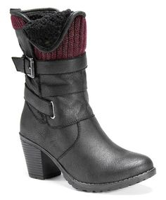 Another great find on #zulily! Black Belle Boot #zulilyfinds    2.75'' heel     9'' shaft     13'' circumference     Side zip closure