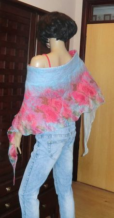 Nuno Felted Silk and Wool Wrap Skirt Shawl Scarf by alisonnorman, £55.00