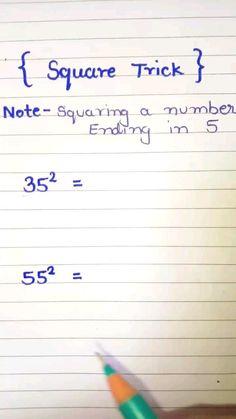 Mental Math Tricks, Cool Math Tricks, Life Hacks For School, School Study Tips, Simple Math, Basic Math, Math Strategies, Math Resources, Math Tutorials