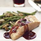 Try the Planked Salmon with Pinot Noir-Berry Sauce Recipe on Williams-Sonoma.com