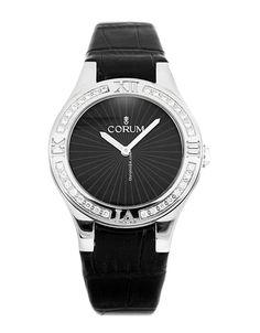 Corum Romvlvs 02.0027 $3,092 #Corum #watch #watches #chronograph steel case with leather bracelet and quartz movement