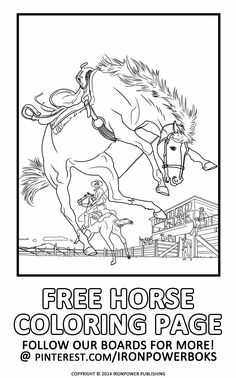 Free Horse Coloring Pages For Kids And Adults