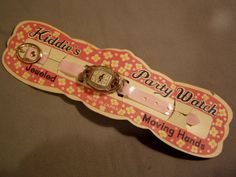 Vintage 1960s Childs Play Watch on Original Card