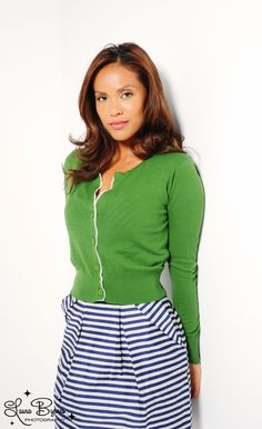 Cropped Green Cardigan from Pink Martini