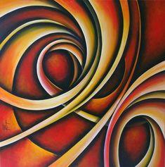 Jess Fragoso Abstracte Schilderijen: VERTIGO