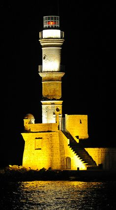 Chania Lighthouse	 Chania(second largest city of Crete )	 Crete	Greece 35.519482, 24.016929 by jack metthey, via Flickr