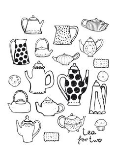 Tea pot illustration by Sjoesjoe