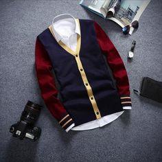 Men's Knit Button Cardigan