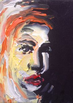 Small portrait study, acrylic on canvas. Figures, Canvas, Painting, Art, Portrait