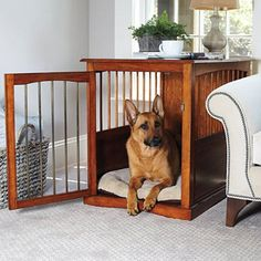 ... Pet Crates, Gates & Houses / Improvements End Table Dog Crate - Large