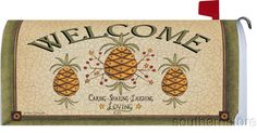 Electronics, Cars, Fashion, Collectibles, Coupons and Mailbox Makeover, Mailbox Covers, Pineapple, Welcome, Magnets, Mail Boxes, Symbols, Hospitality, Diy Ideas