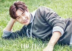 "The September issue of High Cut, Vol. 181 includes a few new photos of Nam Joo Hyuk discussing healthy skin and using ""Botanical Kinetics', along … Korean Actresses, Asian Actors, Korean Actors, Korean Idols, Korean Wave, Korean Men, Nam Joo Hyuk Cute, Jong Hyuk, Nam Joohyuk"