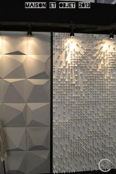 C-More : High-lights Maison et Objet 2013 part 2   Wall covering   Concrete wall ornaments By Taporo