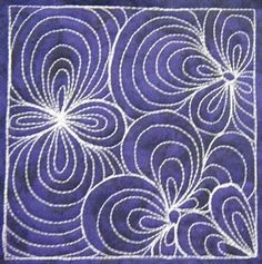 great quilting idea, could do large scale on an entire quilt