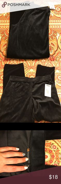 NWT Black Velour Pants Soft and comfy.  Elastic waist band.  Never worn. Activology Pants