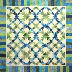 Wild Waves Class taught by Nancy Mahoney -- off-center Pineapple block -- learn all the tricks of foundation paper piecing