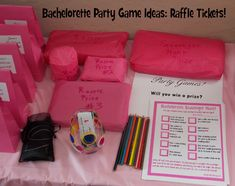 Looking for fun/tasteful bachelorette party game ideas? Here's my simple guide for creating a DIY bachelorette raffle. How to create and pass out tickets, ideas on prizes, and more!