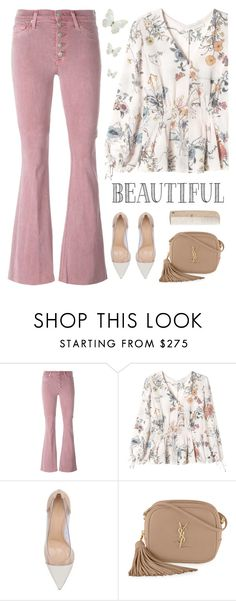 """""""You are beautiful ❤️"""" by genesis129 ❤ liked on Polyvore featuring Hudson, Rebecca Taylor, Gianvito Rossi, Yves Saint Laurent and HAY"""