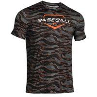 Under Armour Graphic Baseball T-Shirt - Men's - Black / White