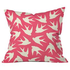 Showcasing a birds motif, this artful pillow brings charming appeal to your sofa or favorite arm chair.   Product: Pillow
