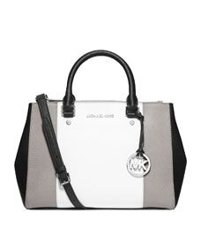 MICHAEL Michael Kors  Medium Sutton Center-Stripe Satchel Michael Kors Outlet, Michael Kors Bag, Handbags Michael Kors, Michael Kors Grey Handbag, Cheap Michael Kors Purses, Bolsas Michael Kors, Purses And Handbags, Mk Handbags, Cheap Handbags
