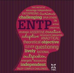 MBTI Type Heads ENTP - not one myself, but think I might enjoy knowing one :-) Entp Personality Type, Personality Profile, Myers Briggs Personality Types, Personality Psychology, Character Personality, 16 Personalities, Myers Briggs Personalities, Thing 1, Enfp