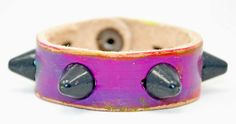 Studded Petite Cuff by Leather Couture.