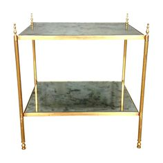 Buy it now: BRASS SIDE TABLE WITH VERRE EGLOMISE #LayerMarketplace