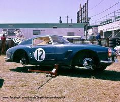1961 Sebring 12h, paddock, Denise McCluggage with the Ferrari 250 GT SWB # 1931GT nr19 (D.McCluggage-Eager) 10th