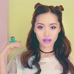 She looks adorable in space buns: Michelle Phan, Beauty Makeup, Top Beauty, Glamping, Most Beautiful, Face, Youtube, Space Buns, Glitter