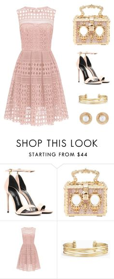 """""""Tea and crumpets please!"""" by brianna-quinn-1 ❤ liked on Polyvore featuring Tom Ford, Dolce&Gabbana, Stella & Dot and Oscar de la Renta"""