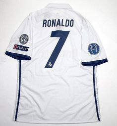 b672cb7e7 New 2016 17 Madrid Cristiano Ronaldo 7 Champions League Match Issue White  Home Soccer Jersey Football Shirt Trikot Maglia Playera De Futbol Camiseta  De ...