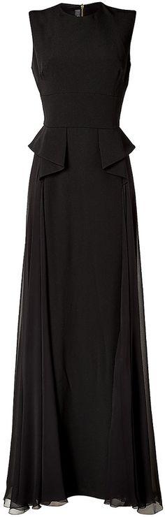 €2,183, Robe de soirée en soie noire Elie Saab. De STYLEBOP.com. Cliquez ici pour plus d'informations: https://lookastic.com/women/shop_items/128538/redirect