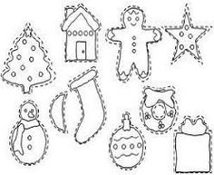 Gingerbread girl skirt outline google search felt for Felt coloring pages
