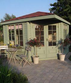 A summer house in Lichen by Farrow & Ball
