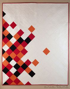 This will be fun in Lil's fabric scraps!    Concerto Quilt Pattern by PileOFabric, via Flickr