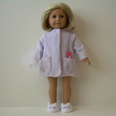Velour Bathrobe and Slippers for American Girl by YouBeautifulDoll 5d0fc1ed0