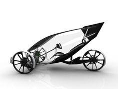 Flux: Elektrisches Liege-Dreirad wie aus SF-Film