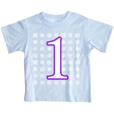 Happy Family Clothing Baby Girls First Birthday Snowflake TShirt 18 Months Light Blue ** Read more at the image link.