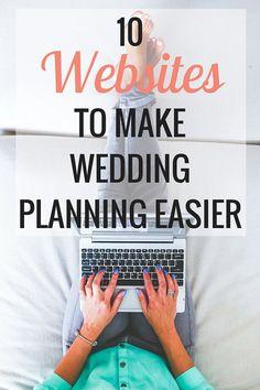 10 Websites to Make Wedding Planning Easier | Weddings - Very Erin Blog