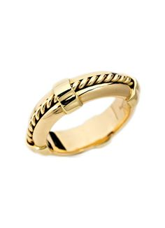 Asprey 18k yellow gold ring.